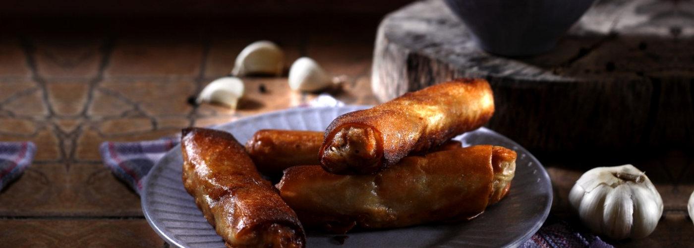 Filipino delicay called lumpia